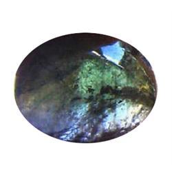 5.3ct Green Blue Paraiba Tourmaline Cabochon (GEM-24465)