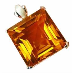 130.60ct Sterling Pendant Fancy Golden Yellow Citrine (JEW-1662)