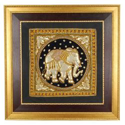 Lg Embroidered/Sequined Elephant Tapestry (ART-008)