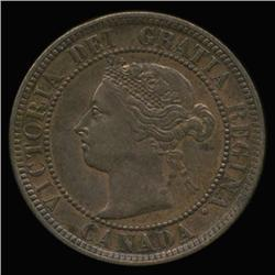 1884 Canada 1c Type 2 MS63/64 Red Brown (COI-6682)