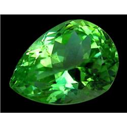 21ct Vvs Natural Super Green Pear Kunzite Gemstone (GEM-24635)