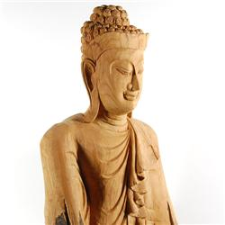 Handcarved Old Teak Buddha (CLB-148)