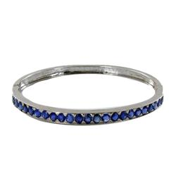 40ctw Burma Blue Sapphire Sterling Bangle    (JEW-2063)