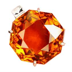 251ct Sterling Pendant Fancy Madeira Orange Citrine (JEW-1822)
