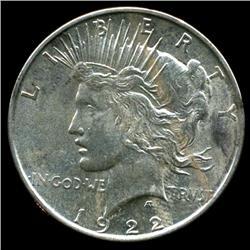 1922D Peace Dollar Coin GEM+ Uncirculated RARE (COI-3205)