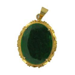 21ctw Burma Imperial Jadeite Gold Vermeil Pend. (JEW-2064)