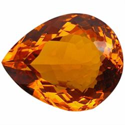 150.5ct AAA Huge Golden Orange Brazil Citrine Pear    (GEM-23750)