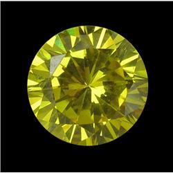 3.25ct Round Yellow Lab Diamond 8mm (GEM-22003A)