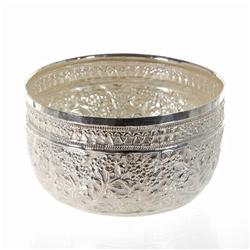 Beautiful Hand Chased 100% Thai Silver Bowl  (CLB-279)