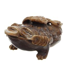 Hand Carved Marble Chinese Money Frog (ANT-588)