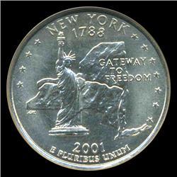 2001D New York Quarter NGC MS68 (COI-5432)