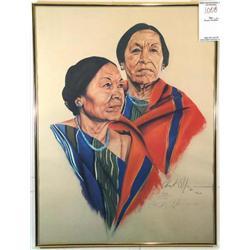 Female Native Americans in Profile II; Artist: Chuck Wilson