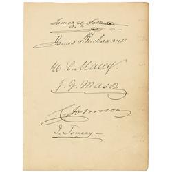 James Buchanan and James Polk