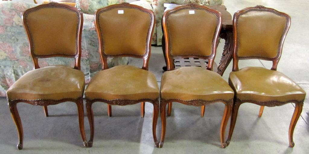 the latest c752e 4a814 Lot of 4 Vintage Dining Room Chairs