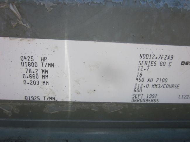 Detroit Diesel Series 60 Turbo Diesel