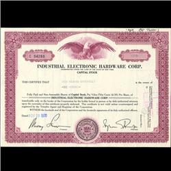 1970s Industrial Electronic Stock Certificate Scarce (COI-3436)