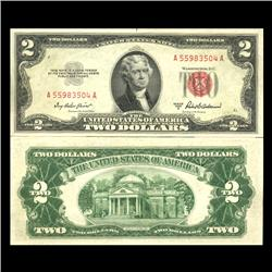 1953A $2 US Note Crisp Uncirculated SCARCE (CUR-06032)