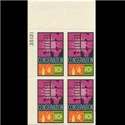 1974 US Energy Conservation 10c Plate Block MINT (STM-0644)