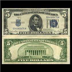 1934D $5 Silver Certificate Crisp Circulated (CUR-06046)
