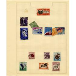 1940s/50s S. Africa Hand Made Stamp Collection Album Page 14 Pieces (STM-0278)