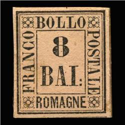 1859 RARE Italy Romagna 8b Postal Stamp Hi Grade MINT (STM-0200)