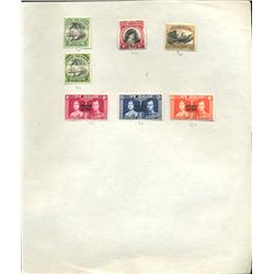 1930s New Zealand Hand Made Stamp Collection Album Page 7 Pieces (STM-0239)