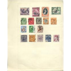 1920s/50s Kenya, China & Japan Hand Made Stamp Collection Album Page 17 Pieces (STM-0244)