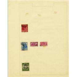 1910s/40s Colombia Hand Made Stamp Collection Album Page 5 Pieces (STM-0294)