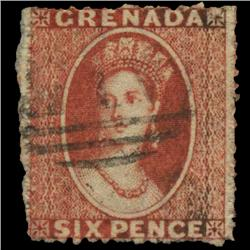 1868 Grenada 6p Postage Stamp Nice (STM-0600)