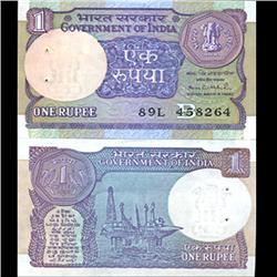 1989 India 1 Rupee Crisp Uncirculated (CUR-06192)