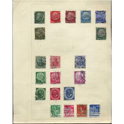 1910s/50s Germany Hand Made Stamp Collection Album Page 20 Pieces (STM-0262)