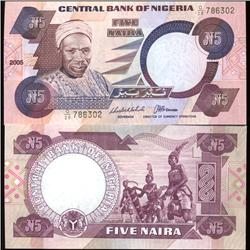 1984 Nigeria 5 niara Note Crisp Unc Note (COI-3817)