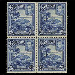 1938 Grenada 2.5p Postage Stamp Block PREMIUM (STM-0617)