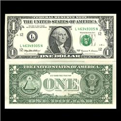 1999 $1 San Fran Federal Reserve Note Sequential Pair Crisp Uncirculated (CUR-06030)