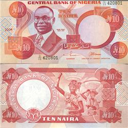 2004 Nigeria 10 Niara Note Crisp Unc Note (COI-4023)