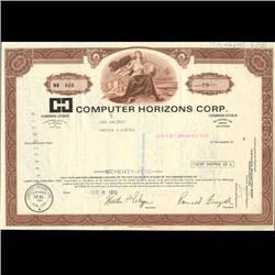 1990s Computer Horizons Stock Certificate Scarce (COI-3441)