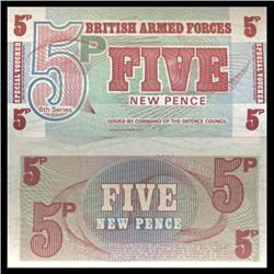 1972 5 Pence Military Note Crisp Uncirculated (CUR-06070)