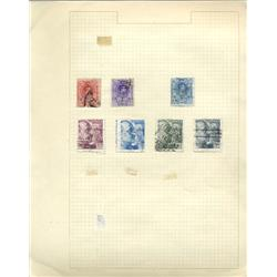 1920s/50s Spain Hand Made Stamp Collection Album Page 7 Pieces (STM-0251)
