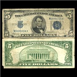 1934D $5 Silver Certificate Circulated (CUR-06043)