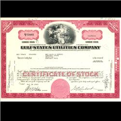 1960s Gulf States Utilities Stock Certificate Scarce (COI-3328)