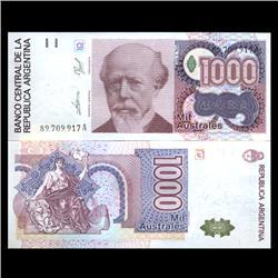 1988 Argentina 1000 Australes Note Crisp Uncirculated (CUR-05944)