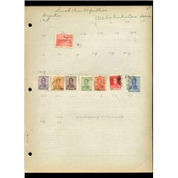 1915 Argentina Hand Made Stamp Collection Album Page  8 Pieces (STM-0092)