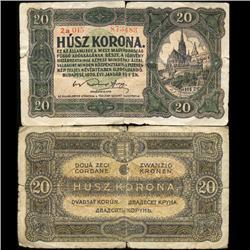 1920 Hungary 20 Korona Note Circulated Scarce (CUR-05738)
