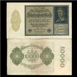 1922 Germany 10000 Mark Note Hi Grade Rare (CUR-05674)