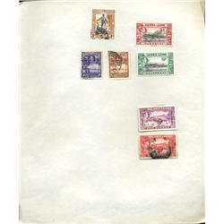 1930s Sierra Leone Hand Made Stamp Collection Album Page 7 Pieces (STM-0235)