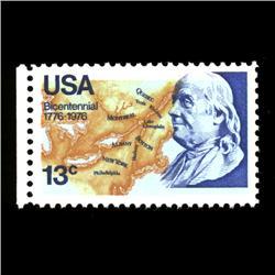 1976 RARE US Postage Stamp ERROR Mint (STM-0011)