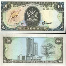 1985 Trinidad & Tobago $10 Crisp Uncirculated Note (CUR-05614)