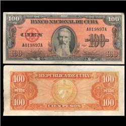 1959 Cuba 100 Peso Hi Grade Note (CUR-05595)