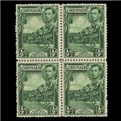 1938 Grenada 1/2p Postage Stamp Block PREMIUM (STM-0614)