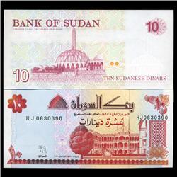 1993 Sudan 10 Dinars Note Crisp Unc (CUR-05732)